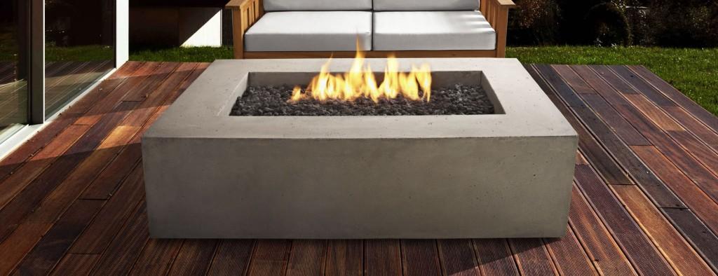 Patioworld Exclusive Faux-Concrete Fire Pit