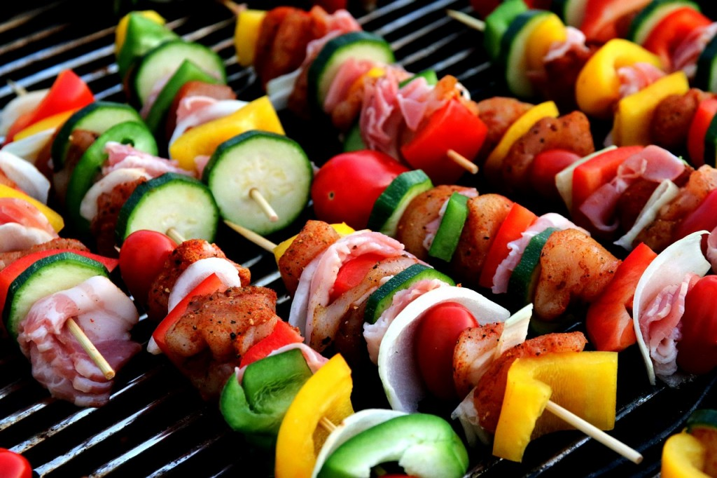 4th of July Party bbq skewers