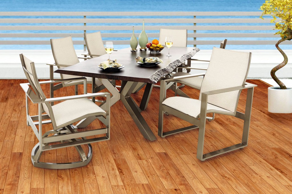 ON SALE NOW: Outdoor dining set by Castelle.