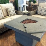 Exclusive Woven Wicker Deep Seating Set w/ Faux-Concrete Fire Pit - available at Patioworld