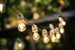 easy patio makeover lights